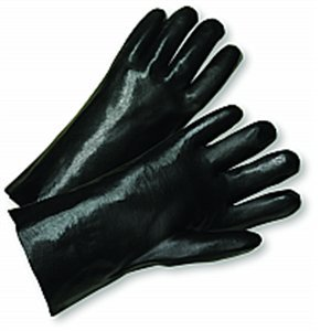 West Chester 12018/L Large 18'' Black PVC Smooth Finish Glove - 48ct. Case by West Chester (Image #1)