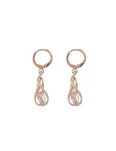 Giuoke Earrings for Women,Women Fashion Water Drop Plastic Pearl Snap Pierced Drop Dangle Earrings Pendants,Cake & Cupcake Toppers,White