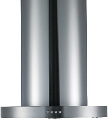 cookology tub350ss 60 cm Tubular isla campana – 750 de acero inoxidable M3/Hr con filtro de recirculación: Amazon.es: Grandes electrodomésticos