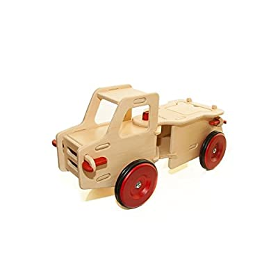 HABA Moover Dump Truck, Natural Wood: Toys & Games