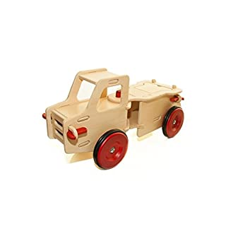 HABA Moover Dump Truck, Natural Wood