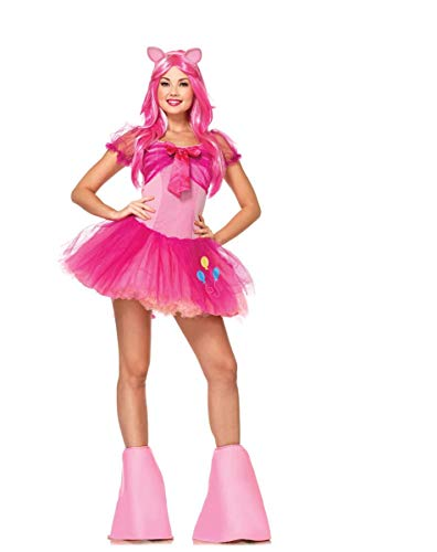Leg Avenue Women's My Little Pony Friendship Is Magic 5 Piece Pinky Pie Costume, Light Pink, Large ()