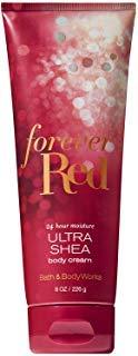 Bath and Body Works FOREVER RED Ultra Shea Body Cream 8 Ounce (2018 Limited - Forever Body Lotion