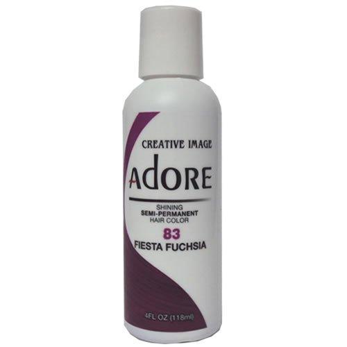 Adore Semi-Permanent Haircolor #083 Fiesta Fuchsia 4 Ounce (118ml) -