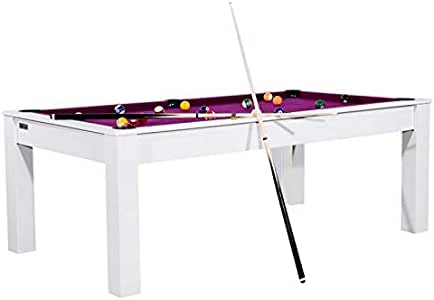 Paris Prix Arkansas - Mesa de billar convertible (213 cm), color blanco y morado: Amazon.es: Hogar