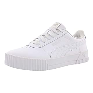 PUMA Women's Carina Sneaker, White Silver, 9.5 M US