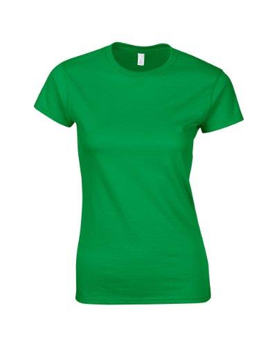 Gildan Ladies Softstyle rinspun camiseta irlandés verde S