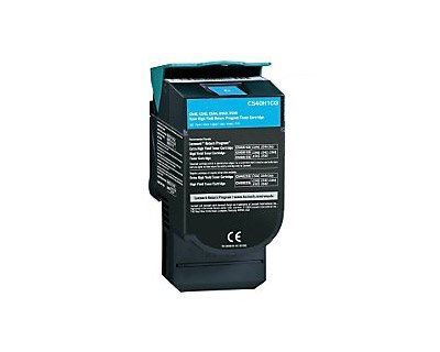 Lexmark C540H1CG High-Yield Toner Cartridge, Cyan - in Retail Packaging