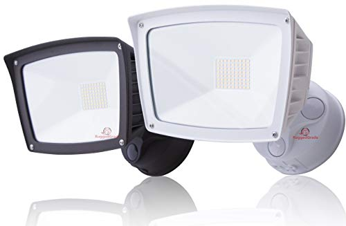 4800 Lumens - LED Wall Flood Light - White Housing- 5000K Bright White - LED Wall Floodlight - ETL & DLC Listed - 5 Year Warranty - LED Adjustable Wall Light