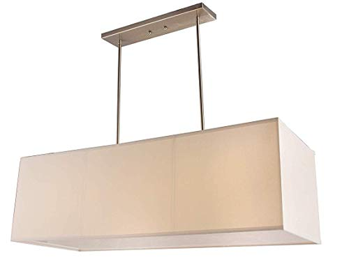Rectangular Pendant Light With Shade in US - 9