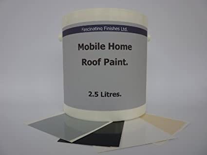 1 x 2 5lt Repair Leaking Roof Paint, For Mobile Home, Caravan Horse Box  etc  4 Colours to Choose From
