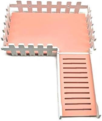Hamster Escalera Cerca Cerca Actividad Juguete Para Mascotas Juguete De Pequeños Animales Suministros Viendo Plataforma Interactiva De Juguete Para Mascotas Con Tornillo De Ardilla Conejo Rosa: Amazon.es: Productos para mascotas