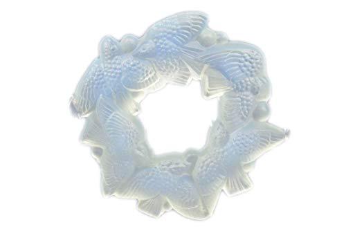 Sabino Opalescent Crystal 1920-30 Ring of Birds Napkin Ring