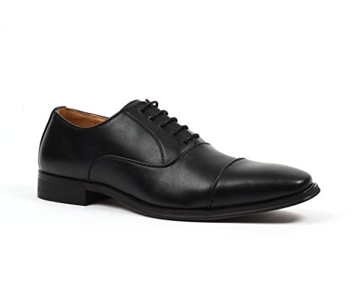 Santino Luciano Enzo Men's Cap-Toe Oxford Dress Shoes