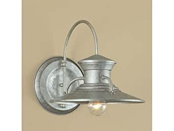 """Norwell Lighting 5155 Budapest Single Light 13"""" Tall Outdoor Wall Sconce with Co, Galvanized with No Glass"""