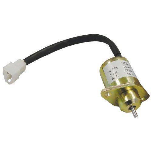 Fuel Solenoid Assembly Kubota F2560 F2560 F3060 B1700 B1700 B1700 B2100 B2100 B2100 BX2200 B21 B2400 B2400 B2400 B2400 16616-60013 ()