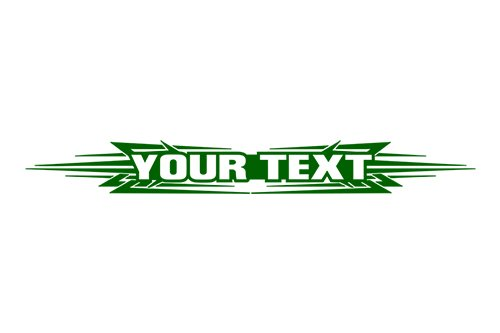 Sticky Creations   Design  117 Your Custom Text Personalized Customized Lettering Tribal Windshield Decal Sticker Vinyl Graphic Rear Back Window Tailgate Car Truck Suv   36 X4 25    Green