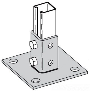 B-Line B280SQ-ZN Zinc Plated for Post Base B22, by B-Line