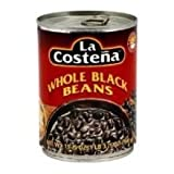 La Costena Whole Black Beans, 19.75 Ounce - 3 per case.