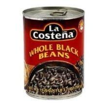 La Costena Whole Black Beans, 19.75 Ounce - 3 per case.