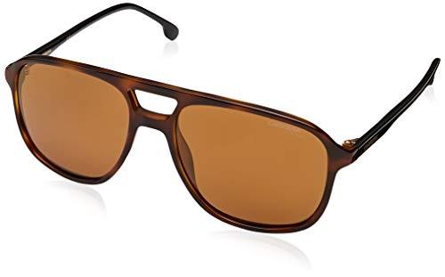 Carrera 173/S 086 K1 Dark Havana Plastic Aviator Sunglasses Gold Mirror Lens (Havana Carrera)