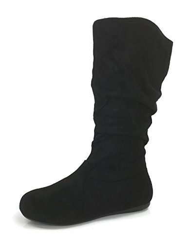Low Heel Wells High Slouchy Collection Under Black to Knee Womens Boots 23 Flat Soft Wonda z78zrxZ