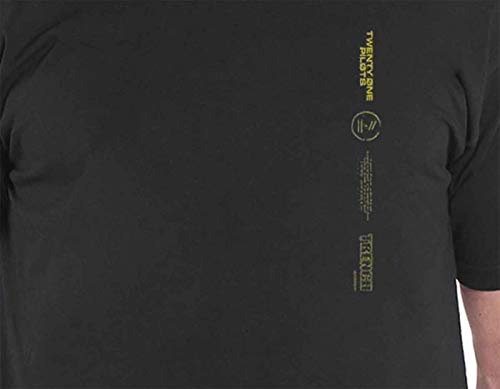 57219f4c7 Twenty One Pilots T Shirt Official Trench Big Back Print Band Logo Mens  Black