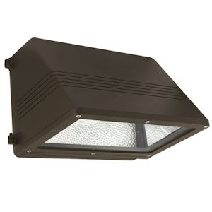 Hubbell Outdoor WGM100P 100-watt Pulse Start Metal Halide Wallpack with Lamp, Full Cut-Off and Quad-Tap Ballast, Bronze