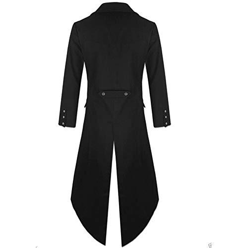Homme Veste Gothique Praty de Knight Costume Erthome Uniforme Manteau Pour Queue Noir pie Vêtement Redingote 0AwSE8qS