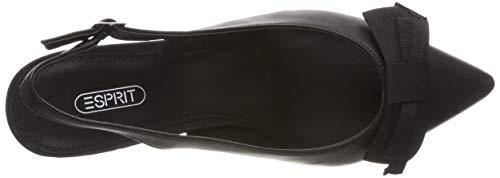 Nero Donna Cinturino Caviglia Alla Sling Nadia Scarpe Bow Esprit 001 Con black wx8zBqp1