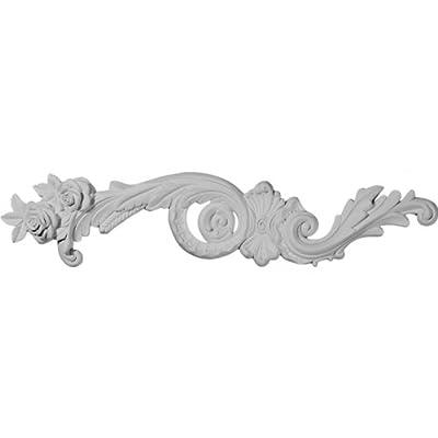 Ekena Millwork ONL23X04X00LA-L 23 3/8-Inch W by 4 1/2-Inch H by 3/4-Inch P Lanarkshire Scroll Onlay
