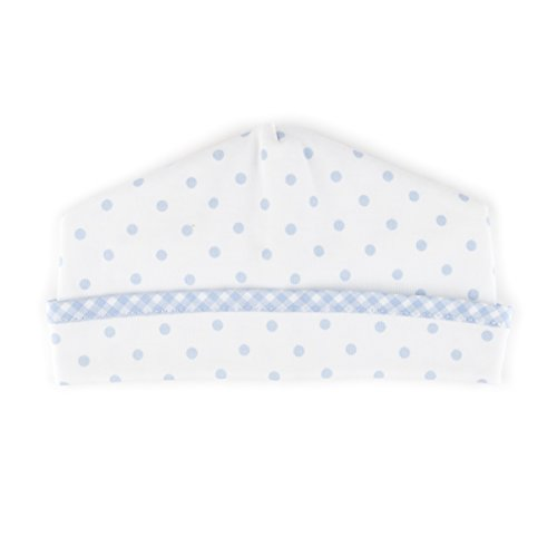 Magnolia Baby Baby Boy Gingham Dots Essentials Hat Blue Small