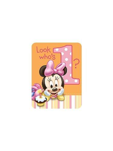 Disney Minnie's 1st Birthday Invitations (8) -
