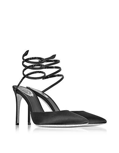 Caovilla Femme Satin Noir Rene Escarpins C09148100r001v050 7dq7w