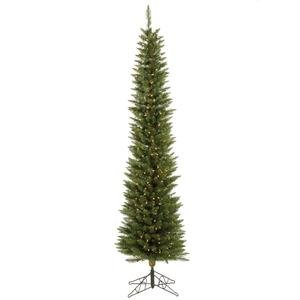 Vickerman Pre-Lit Durham Pole Pine Tree with 150 Frosted Italian LED Lights, 5.5-Feet, Green
