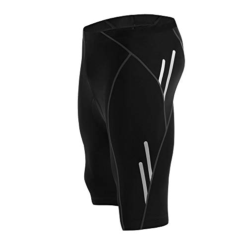 Men's Cycling Bike Shorts 3D Padded Bicycle Riding Pants Tights, Anti-Slip Design, Breathable Quick Dry Comfy (X-Large) Black (Mens Cycling Tights)