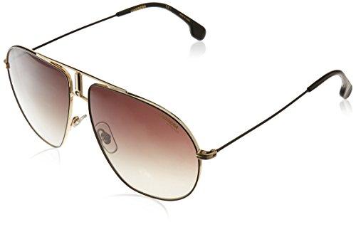 Carrera Men's Bounds Aviator Sunglasses, Black Gold/Brown Gradient, 62 mm (Carrera Sunglasses Man)