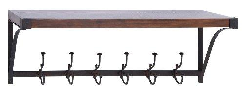 Deco 79 50466 Metal Wood Wall Shelf Hook 39