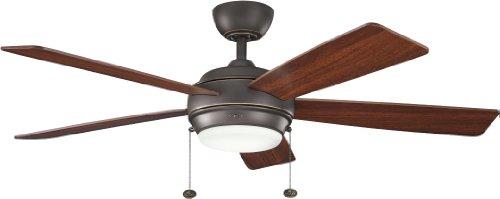 Kichler 300173OZ 52-Inch Starkk Fan, Olde Bronze ()