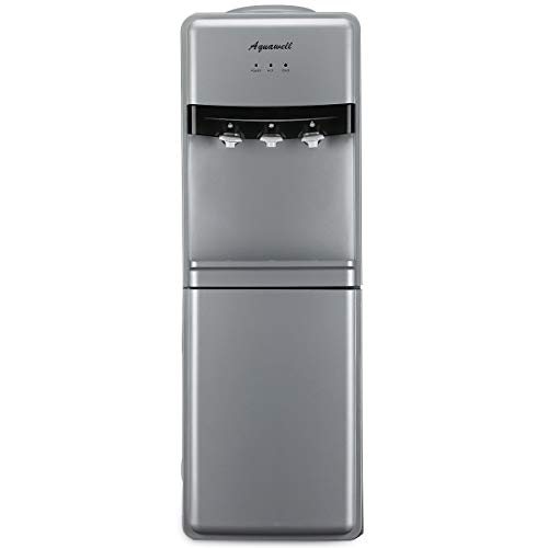 Aquawell Water Cooler Dispenser, Freestanding Hot & Cold Water Dispenser, Commercial Top Loading Water Dispenser for Home, Office, Hotel, Restaurant, - Quiet Water Cooler