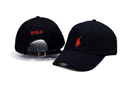 POLO Adjustable Cap Mens Baseball Snapback Hats Black 2 One Size (Hats For Cheap)