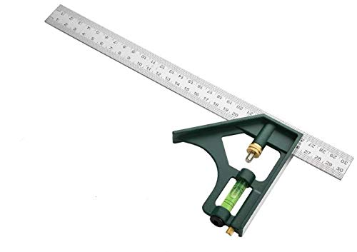 Combination Square, Woodworking Tools, Combo Measure, 11.8inches, 30cm