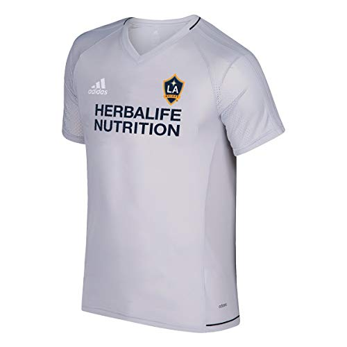adidas LA Galaxy MLS Men's Grey Climacool 2017 Gen Training Jersey (XL)