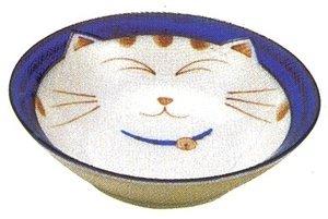 vajilla de porcelana japonesa con diseño de gato, Azul