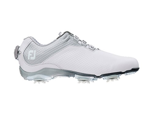 FootJoy Women's DNA BOA Golf Shoes 94815 - White/Silver - 9.5 - Medium by FootJoy