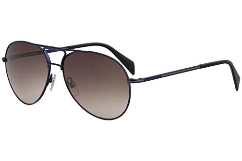 Diesel Men's DL0163 DL/0163 91F Satin Blue Fashion Pilot Sunglasses 59mm ()