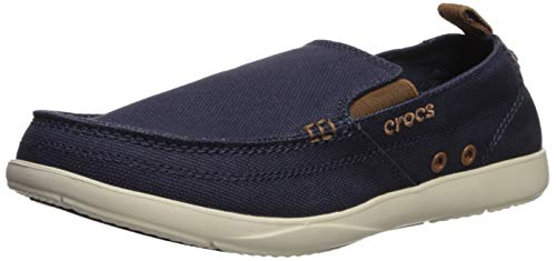 Crocs Men's Walu Loafer Navy/Stucco 10 M US