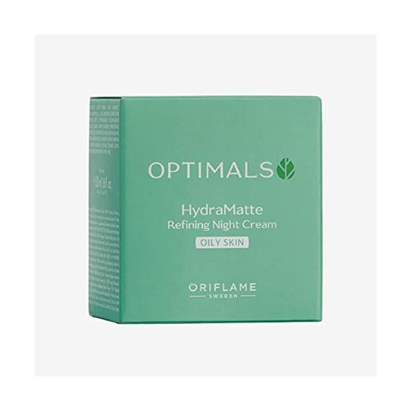 Oriflame Optimals Hydra Matte Refining Night Cream Oily Skin 2021 June Hydrates the skin. Helps to prevent and reduce sebum over-production. Minimises the appearance of pores.