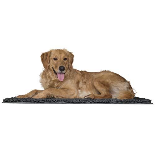 FurHaven Pet Dog Mat   Muddy Paws Towel & Shammy Rug, Charcoal (Gray), Large
