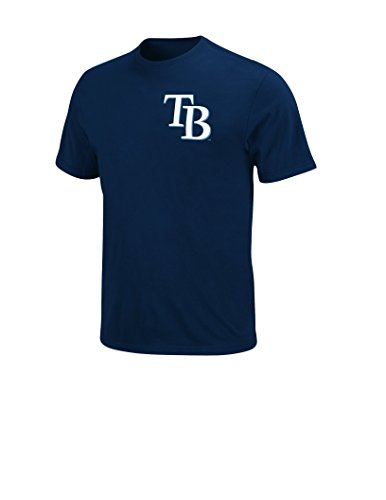 MLB Tampa Bay Rays Men's E Longoria 3 Player Name Number Tee, Large, Navy